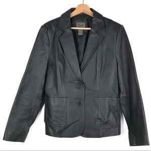 JOHN PAUL RICHARD leather blazer jacket 12 o101